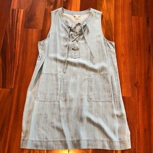 Tommy Bahama Lace Up Denim Dress